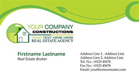 cdr templates business card real estates business cards vectors