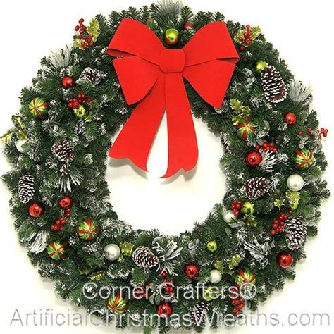wreaths decorated with ornaments mouthtoears large wreath wreaths and pine cones
