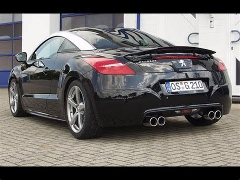 peugeot rcz tuning peugeot rcz 200 tuning with exhaust system youtube