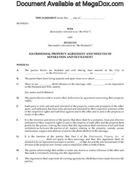 separation agreement bc template alberta separation agreement forms and business
