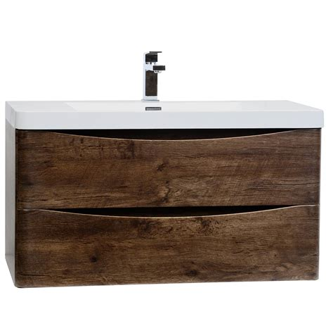 buy merida 35 5 quot wall mount bathroom vanity in rosewood tn