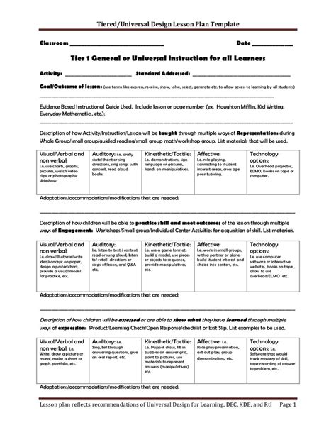 differentiation lesson plan template 23 best images about budgeting on guided