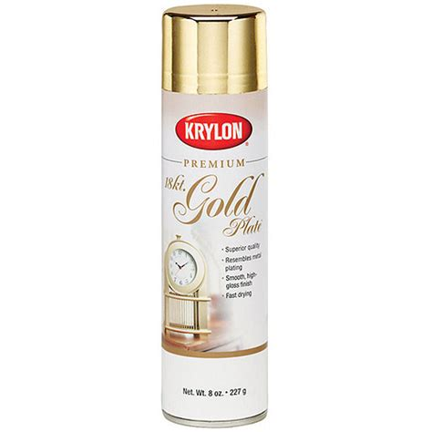 Impression Gold Fusion Sprei Set metallic spray paint 8 ounces 18 karat gold walmart