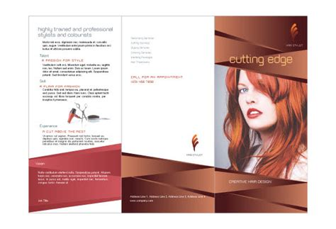 hair stylist salon print template pack from serif com
