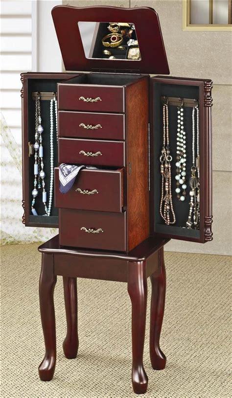 dark cherry jewelry armoire dark cherry wood jewelry armoire