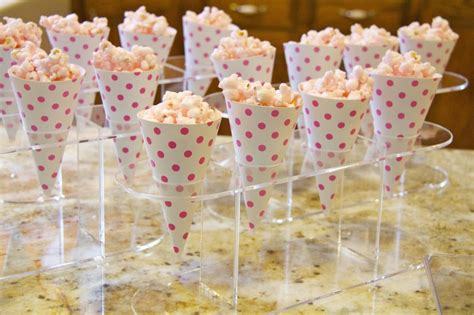 How To Make Paper Cones For Popcorn - pink popcorn in pink polka dot paper cones shelley beatty