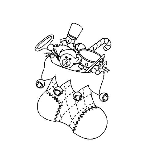 christmas socks coloring pages coloringpages1001 com