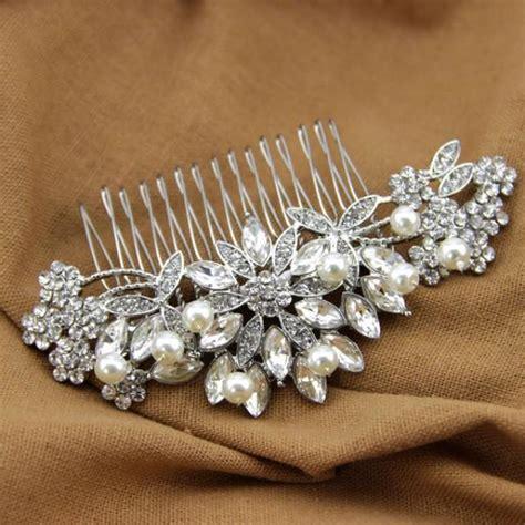 Handmade Wedding Hair Accessories - handmade bridal hair comb wired pearl headpiece