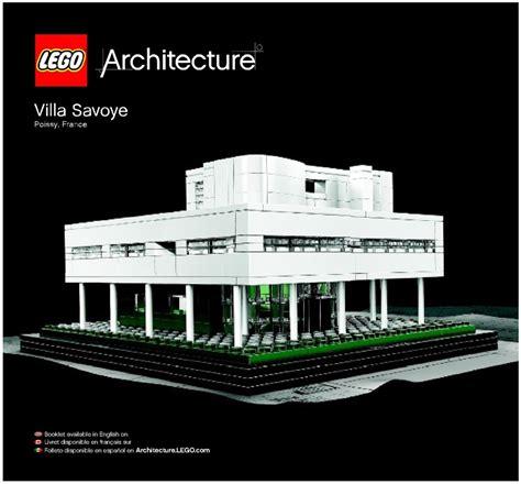 lego architecture tutorial architecture lego villa savoye instructions 21014