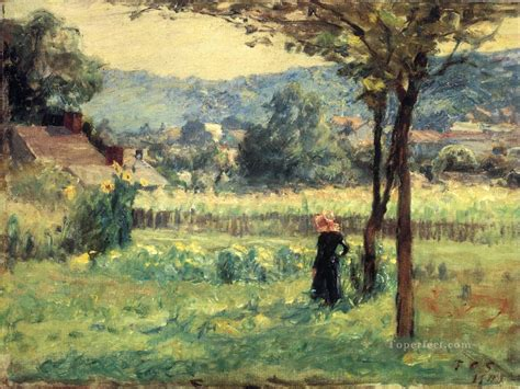 painting indiana flower garden at brookville impressionist indiana