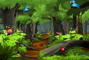 selva fine art cartoon forest