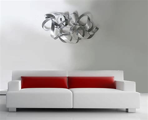 Modern Wall Sculptures by Metal Wall Mobius The Sculpture Room