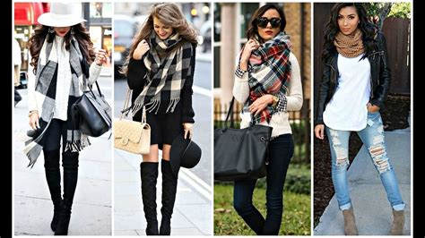 How To Wear Fall Fashions Top Trends by Trendy Ways To Wear A Scarf Fall 2016 Winter 2017
