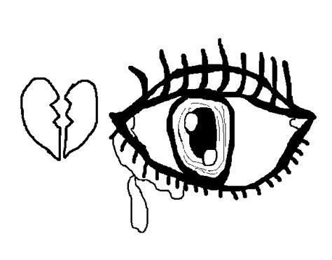 imagenes de amor tristes para llorar para dibujar dibujo de ojo triste para colorear dibujos net