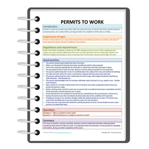 work permit template free tool box talk for permits to work free darley pcm