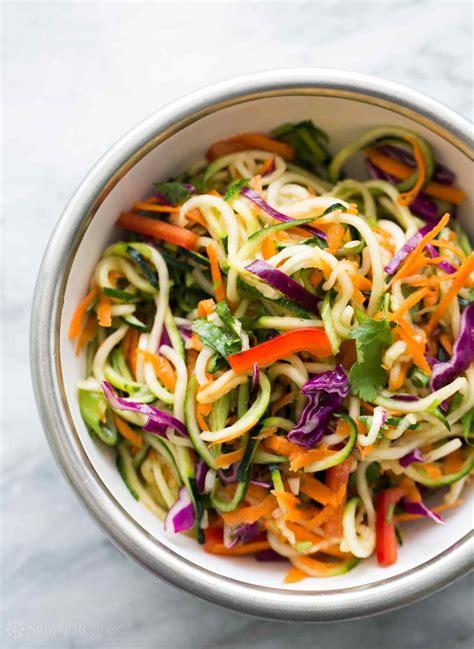 Noodle Salad Recipes | asian zucchini noodle salad recipe simplyrecipes com