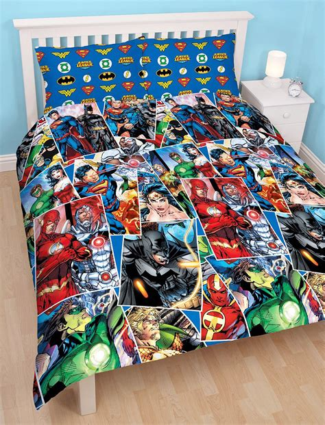 justice bedding justice league invincible double duvet cover reversible