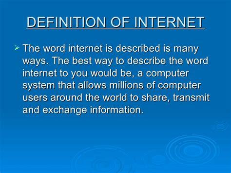 internet definition presentation1 ppt email and internet