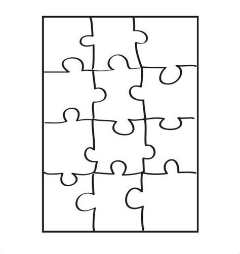 free printable jigsaw templates puzzle piece template 19 free psd png pdf formats