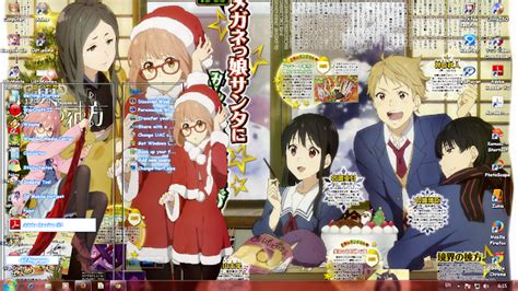theme windows 7 kyoukai no kanata anime themes windows 7 kyoukai no kanata kuriyama mirai