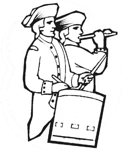 coloring pages of the american revolution educational