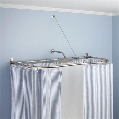 bathtub curtain rods oval shower curtain rod for clawfoot tub bathtub designs