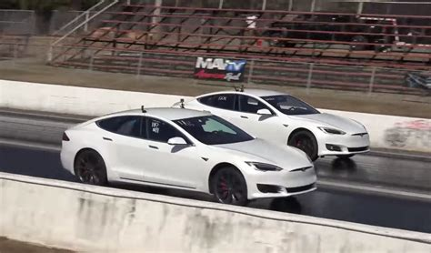 tesla drag base model tesla model s destroys competition at drag