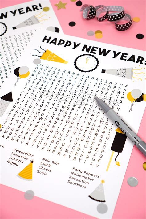 new year words printable new year s word search printable happiness is