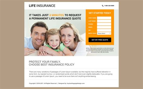 Responsive Life Insurance Website Design For Professional Company Insurance Responsive Website Template Free