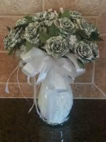 Simple Origami Vase Dollar Origami Rose Bouquet Money Mo S Magination