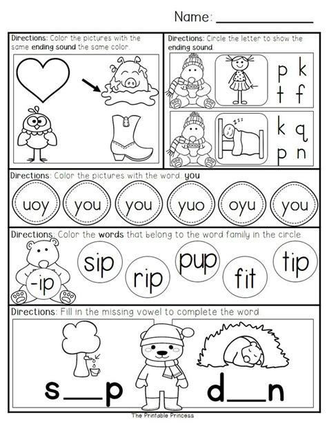 Work For Kindergarten Worksheets by January Morning Work For Kindergarten 40 Pages Of