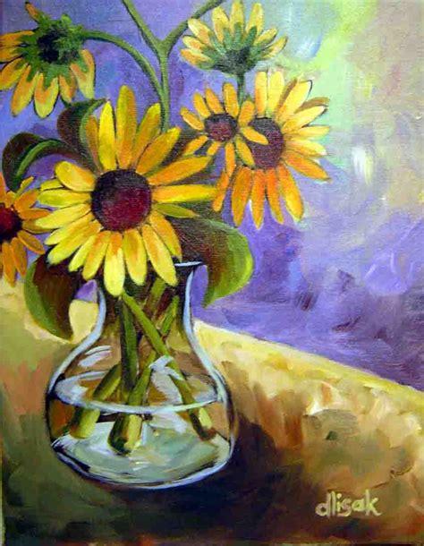 Painting Of Flower Vase by Flowers In A Blue Vase Vases Sale