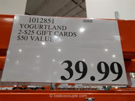 Costco Gift Cards Balance - yogurtland gift card amount lamoureph blog