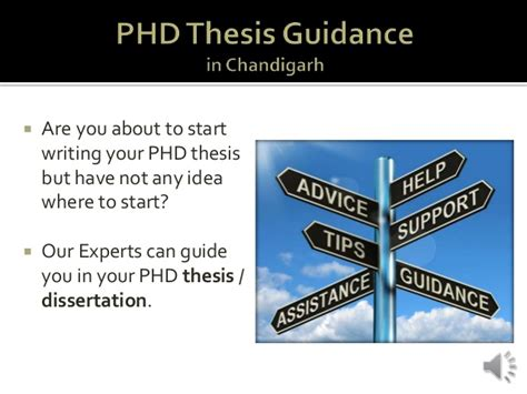 dissertation guidance phd thesis guidance in chandigarh sector 17