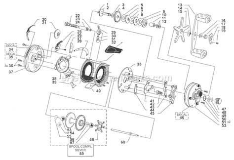 abu garcia parts diagrams abu garcia 5600 c4 parts list and diagram 09 01 mag