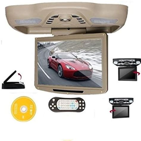 ceiling mount car dvd player ouku 12 1 quot roof mount overhead ceiling car dvd player flip