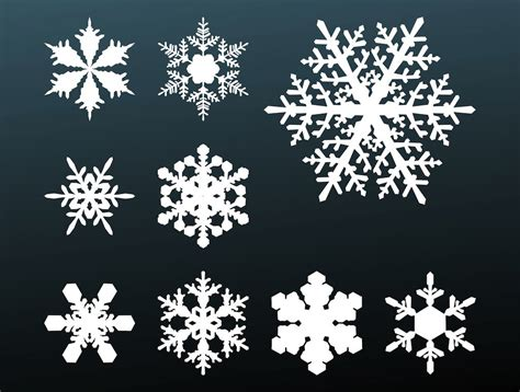 snowflakes footage vector art graphics freevector com