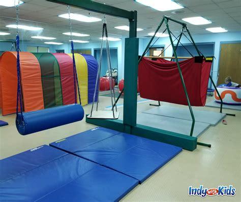 swinging gym rhodius park sensory gym climbing crawling swinging
