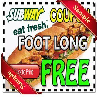 printable subway coupons 2012 coupon on pinterest