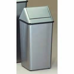 stainless steel kitchen trash can witt 13 gallon stainless steel swingtop trash can witt