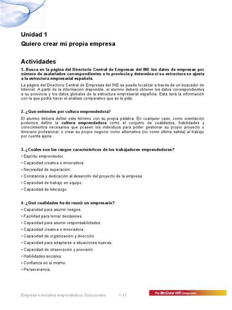 Ebooks 57936 Empresa E Iniciativa Emprendedora by Solucionario Empresa E Iniciativa Emprendedora Ud1 Pdf