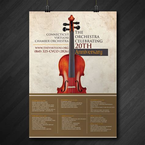 moderne poster serious modern poster design for connecticut virtuosi