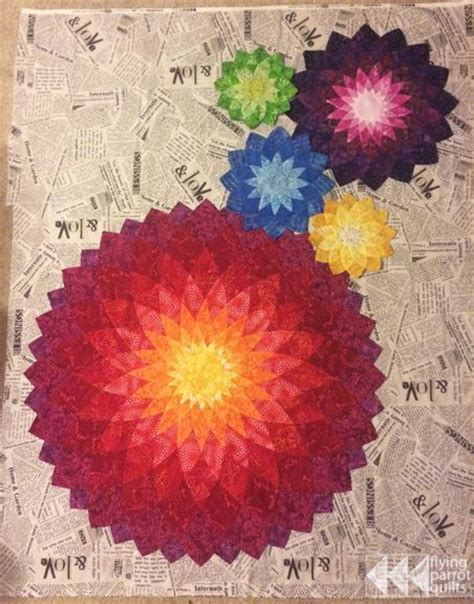 Dahlia Quilts by Quilt Beautiful And Dahlias On