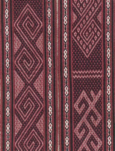 Toraja Ii Skirt tablet weaving traditional motifs from sulawesi indonesia hendrickson