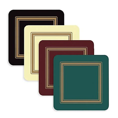 bed bath and beyond coasters pimpernel classic coaster set of 6 bed bath beyond