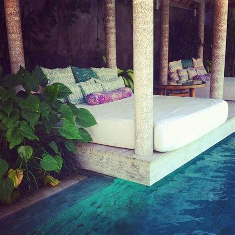 pool beds bed over pool outdoor love pinterest