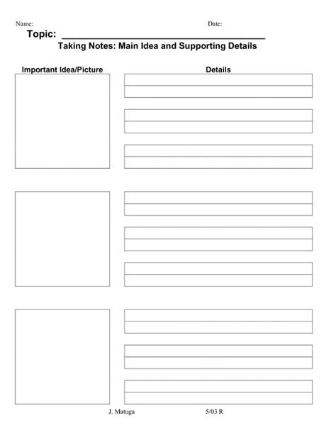 Avid Cornell Notes Template Shatterlion Info Avid Summary Template