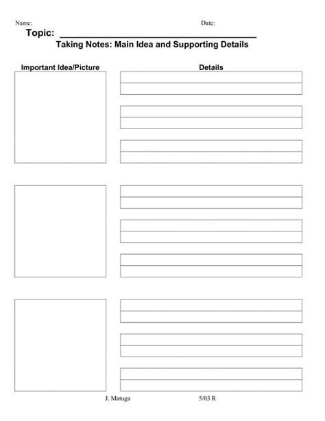 Avid Cornell Notes Template Shatterlion Info Avid Summary Template