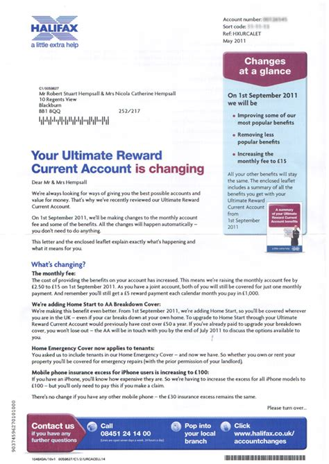 Complaint Letter To Halifax Bank Redesign Of Halifax Letter About Account Changes 171 Robert