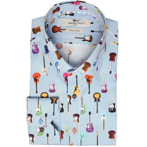 guitar pattern shirt buy italian shirts the shirt store claudio lugli cp